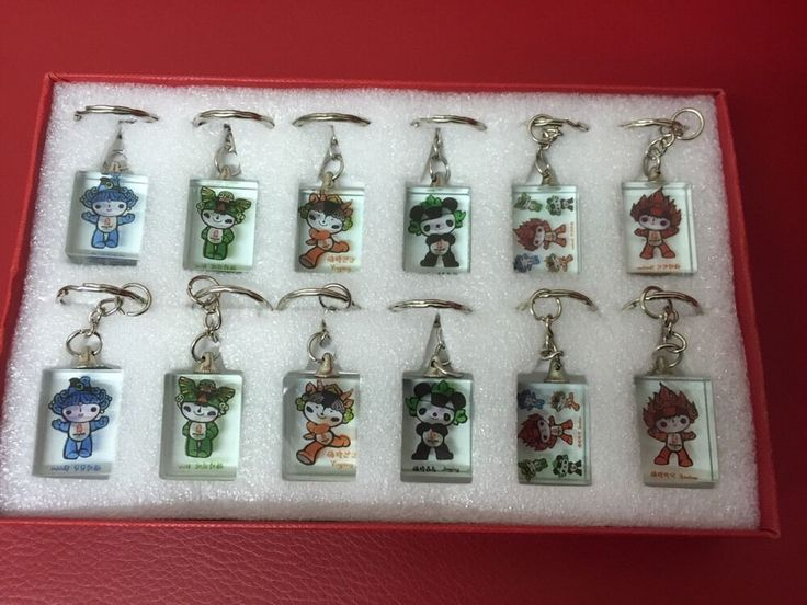 Beijing 2008 Olympic Mascots 13 Count Keychain Boxed Set [RN2]  | eBay