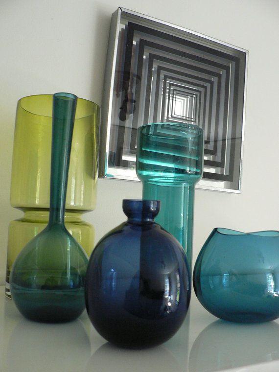 Dark Blue Glass Picture