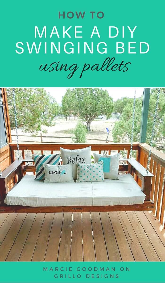 Pallet patio swing - 21 Dreamy Hanging Porch Bed Ideas Pallet Swing