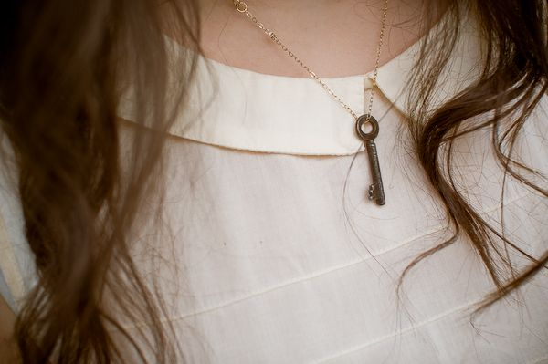 find an old key and make a necklace. and i like her blog.