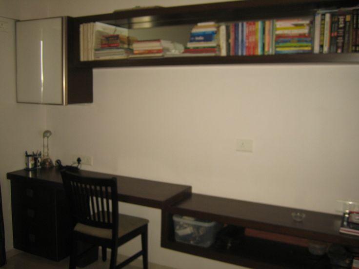 Master Bedroom Tv Unit master bedroom study unit with tv unit provision | rohan mithila