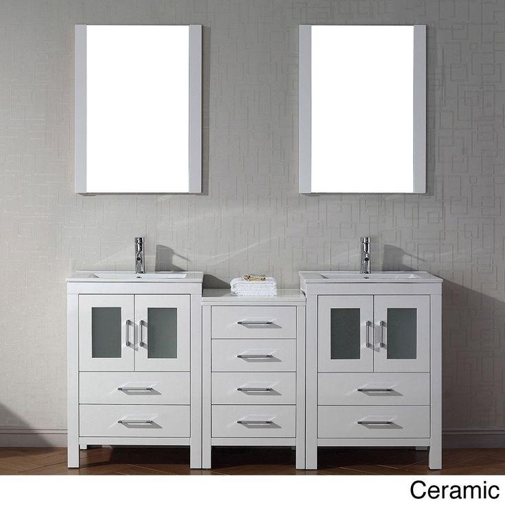 Virtu usa 66 inch dior double sink vanity is the essence - 66 inch bathroom vanity double sink ...