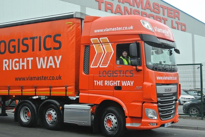 .Congratulations to Danny Howes age 20 who has just been given the keys to a new DAF 105 Super Space Cab Artic at Viamaster Transport. Danny was employed by Viamaster Transport after he did his LGV C with Viamaster Training aged just 18. He has worked his way up from 3.5 tonne van to 7.5 tonner, 12 tonner, 18 tonner and since passing his LGV CE test has been driving a Volvo FH Artic. He was chosen to get the new DAF after proving he has the skills and a can do professional attitude.