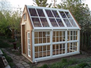 greenhouse made from old windows | Greenhouse construction update No. 4
