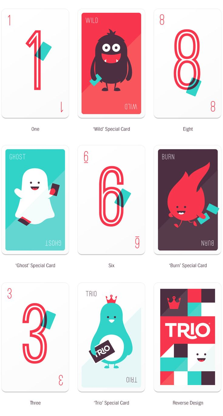 Trio card game - lose your cards, win the game!