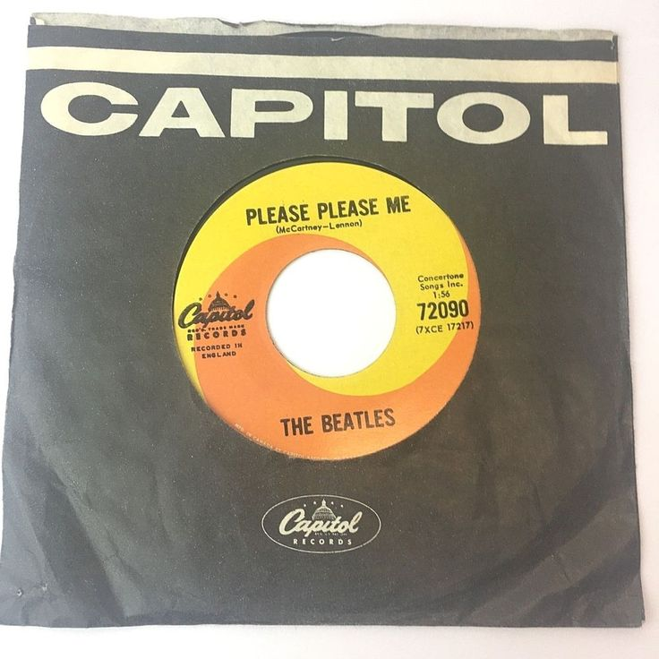 Beatles 45 Please Please Me Ask Me Why 1964 Rare Capitol 72090 7XCE 17218 CANADA #Variation