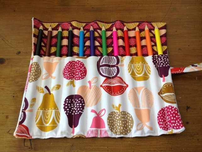 Apples & Pears Pencil Roll £7.50