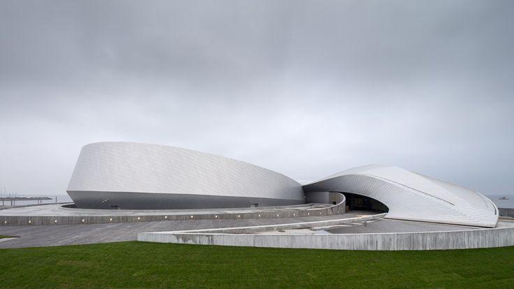 The Blue Planet by 3XN whirlpool-shaped aquarium under construction in Copenhagen
