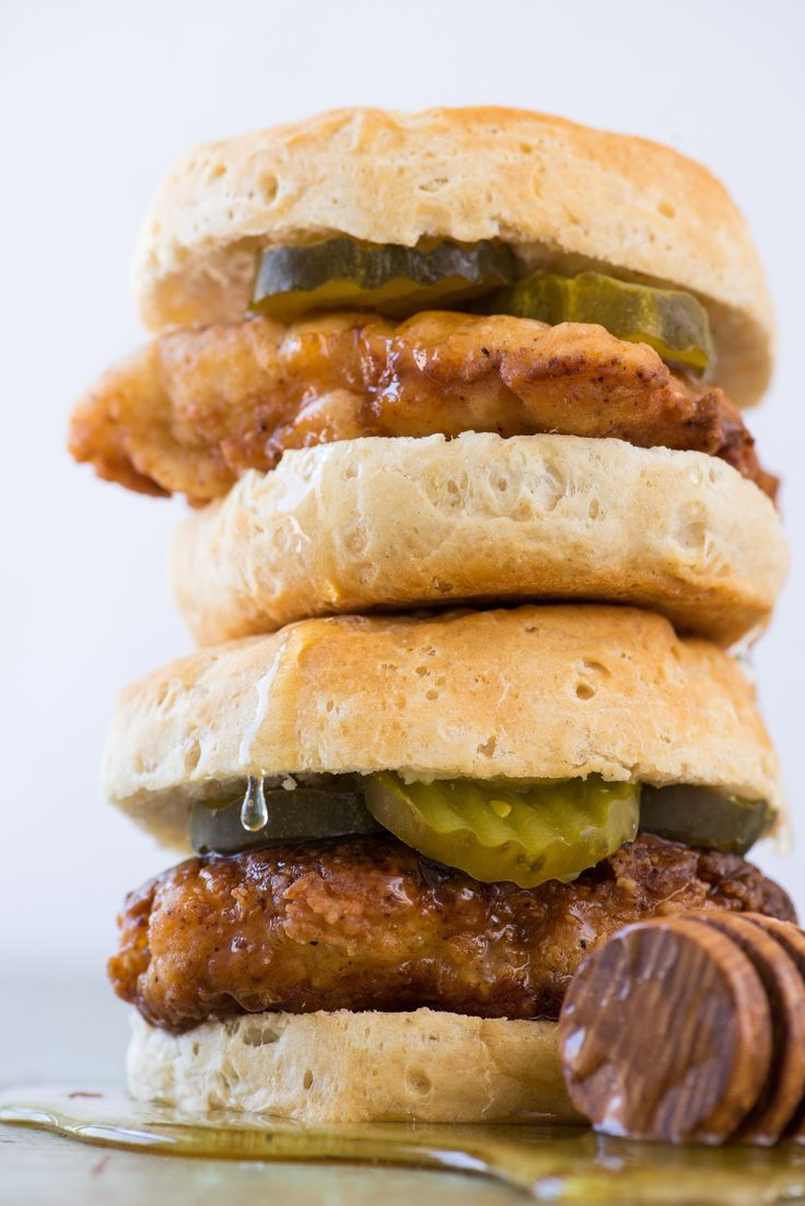 Copycat Fried Chicken Biscuits with Honey recipe. Fried chicken on its own? Perfection. Fried chicken and waffles? Double perfection, which means fried chicken on a biscuit dripping with honey takes things to a whole new level. We're taking this sandwich recipe to weeknight status with shallow-fried chicken cutlets and the option to use homemade or purchased biscuits.