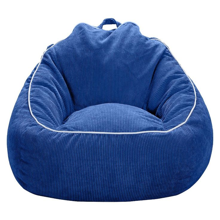 XL Corduroy Bean Bag Chair - Pillowfort, Blue Overalls