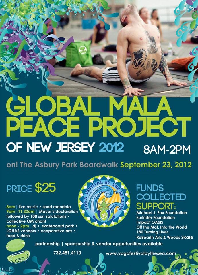 9/23/12 Global Mala 108 sun salutations #yoga #jerseyshore #asburypark