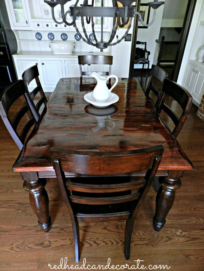 Beautiful Refinished Table Dining Room Table Makeover Refinishing Kitchen Tables Kitchen Table Wood