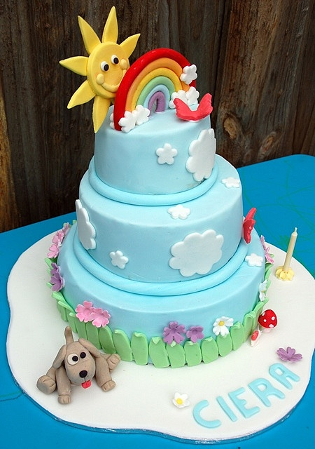 Rainbow Cake - Ciera's 1st Birthday by liezl_delcastillo, via Flickr