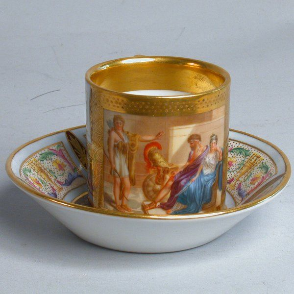 ROYAL VIENNA HAND PAINTED CUP & SAUCER