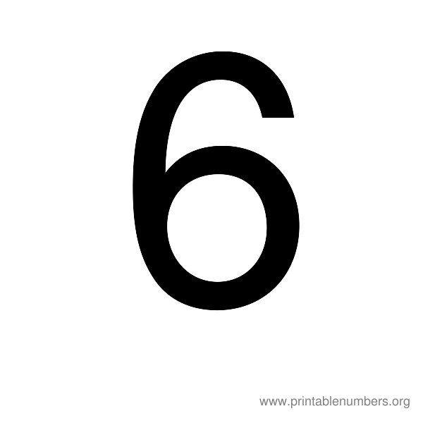 Big Printable Numbers