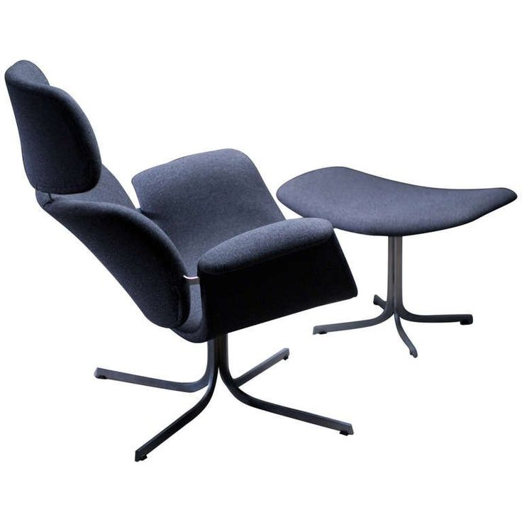 pierre paulin f545 lounge chair with matching footstool for artifort
