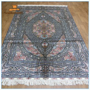 Free Shipping 6x9 Foot 183x274cm Persian Style Hand Woven Fl Design 100 Silk Room Used