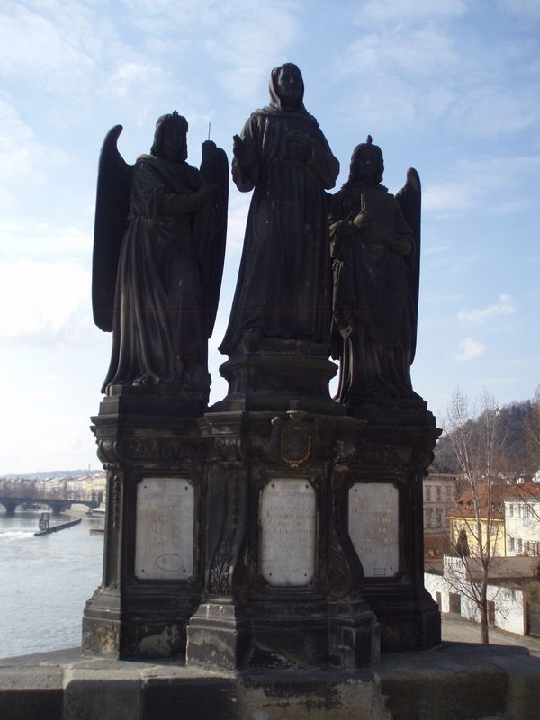 Photos of Charles Bridge South Side Statues: Statue of St. Francis of Assisi on Charles Bridge