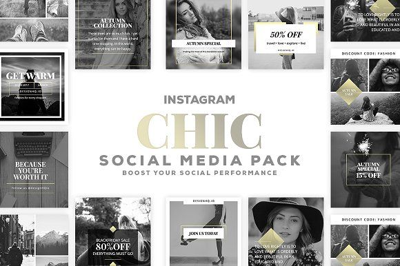 CHIC INSTAGRAM PACK by DESIGN HQ on @creativemarket