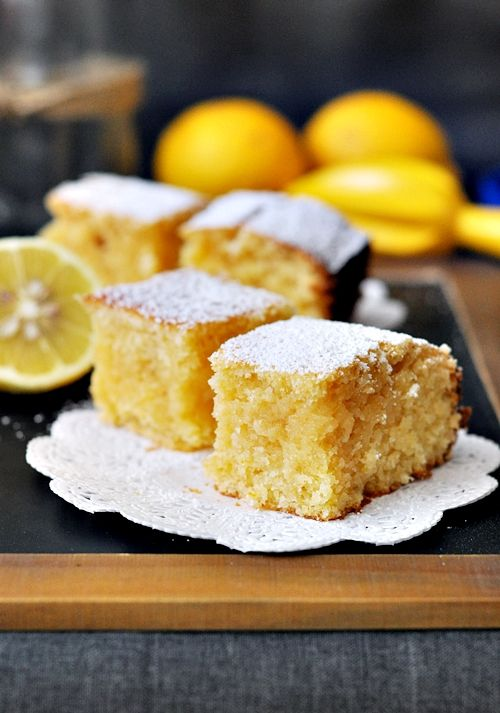 """Lemon and Coconut """"Brownies"""" ~ The ULTIMATE summer cake!!!"""