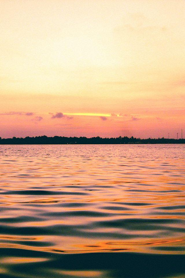 FREEIOS7 | dusk-at-the-beach - parallax HD iPhone iPad wallpaper