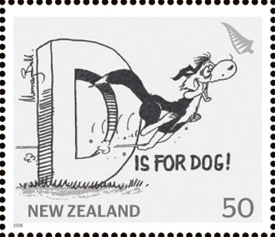 """Footrot Flats"" stamp from New Zealand"