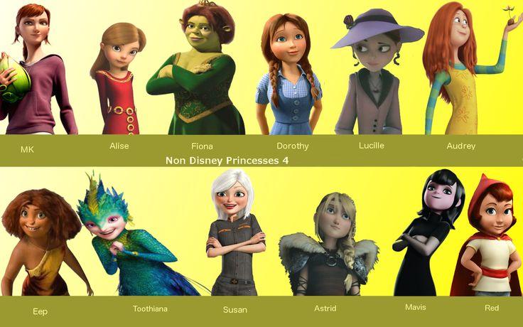 non-disney princesses | Non Disney Princesses 4 by JamiMunji