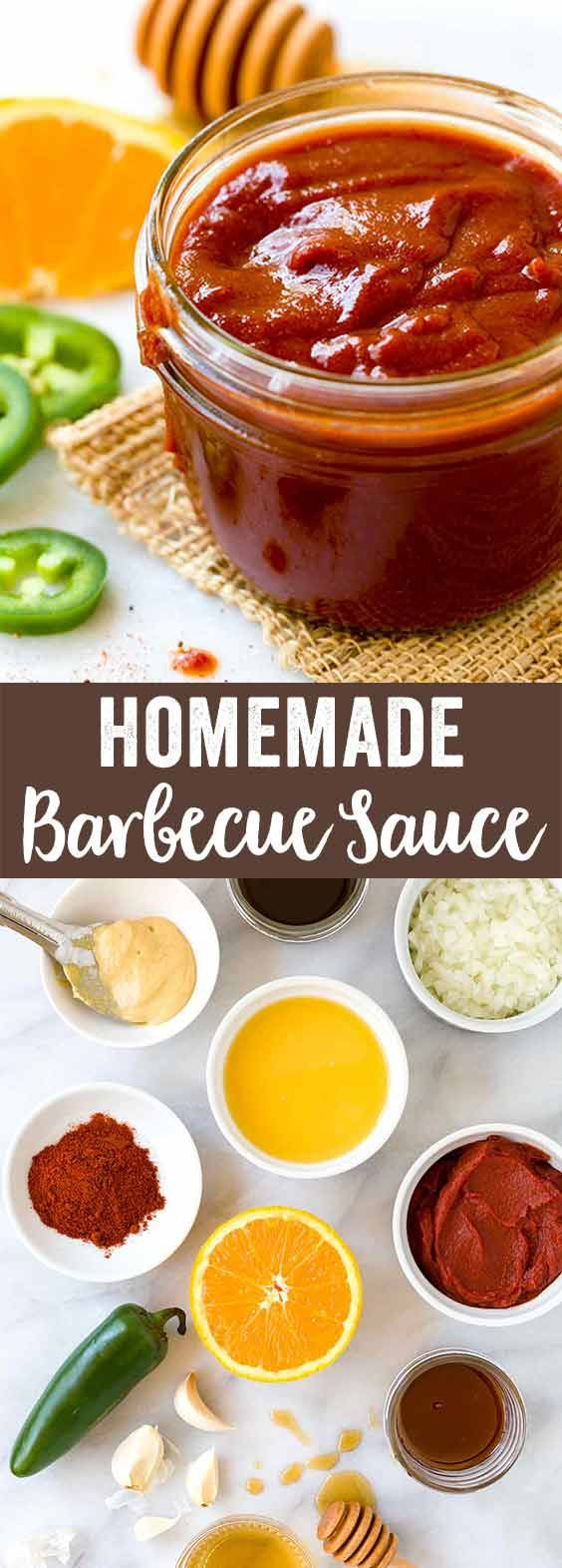 Homemade barbecue sauce made with a thick tomato base complements any meat with spicy flavor and sweet notes. Ready in 30 minutes, it's the perfect add-on for grilled meats and other summertime BBQ recipes. via @foodiegavin