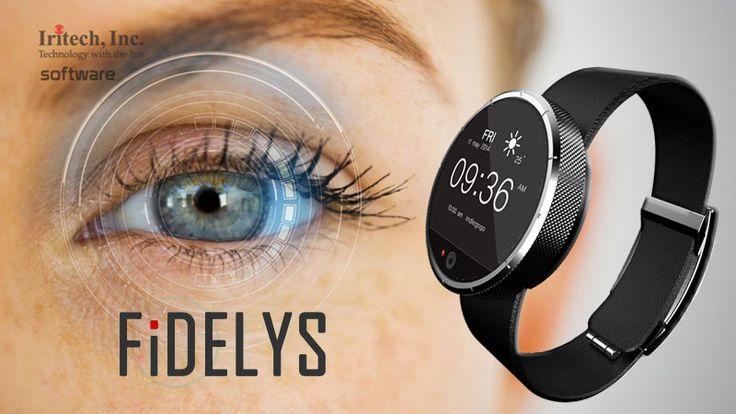 FiDELYS Smartwatch with Iris Recognition and NFC
