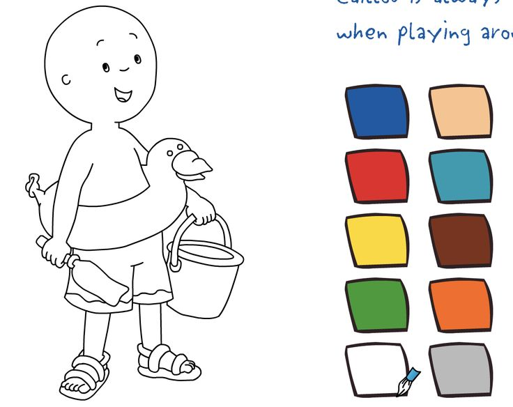 play free online caillou coloring with caillou game in