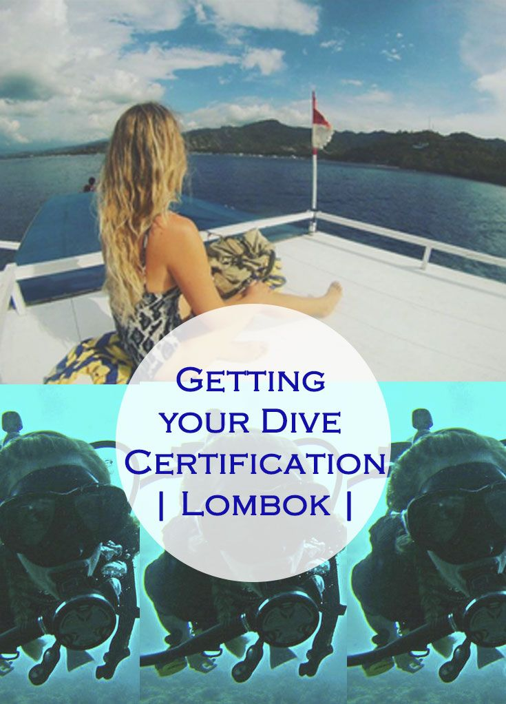 What it's like to get your Open Water Diving Cert. in Lombok, Indonesia #travel #indonesia #travel #lombok #guide #scuba #diving #wanderlust #bucketlist #certification #firsttime #backpacking #budget  #ocean