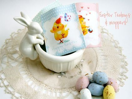Free Printable Easter Tea Bags and Wrappers · Edible Crafts   CraftGossip.com