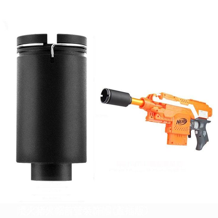 WORKER Flaming Pig Flash Hider Decorator For NERF Toys