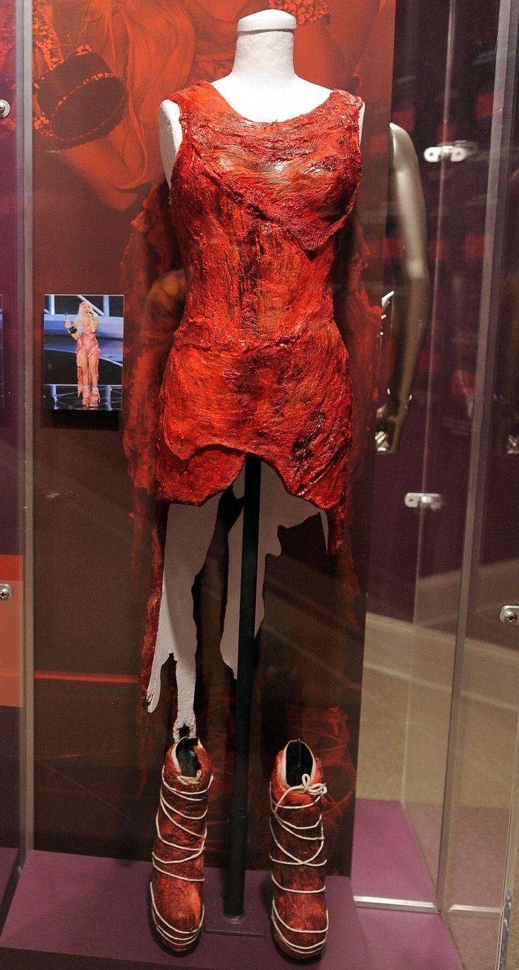 Lady Gaga's meat dress looks pretty bleak now.... they should plasticize it