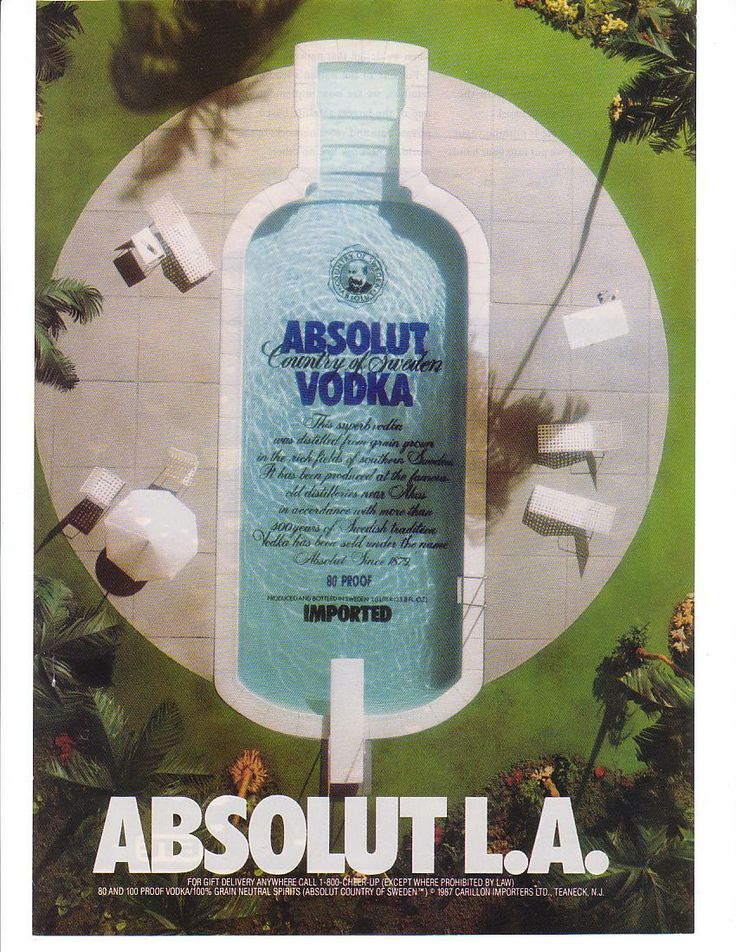absolut vodka creating advertising history The case discusses in detail the advertising strategies of vin and spirit (v&s), swedens leading liquor company, for promoting the worlds third largest premium vodka brand, absolut.