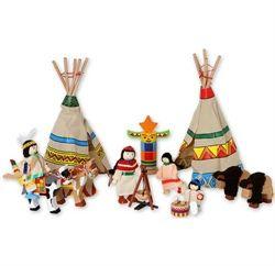 Hyggelig indianerlejr