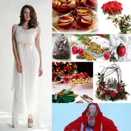 vintage christmas wedding ideas