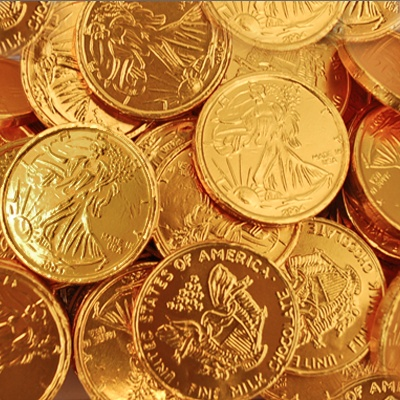 Small Gold Chocolate Coins | Bulk Wrapped Candy ...