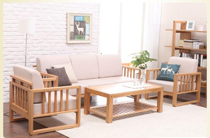 Деревянный диван и кресла в комплекте с белой обивкой купить в интернет-магазине https://lafred.ru/catalog/catalog/detail/14318358013/