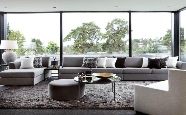 slettvoll grå soffa
