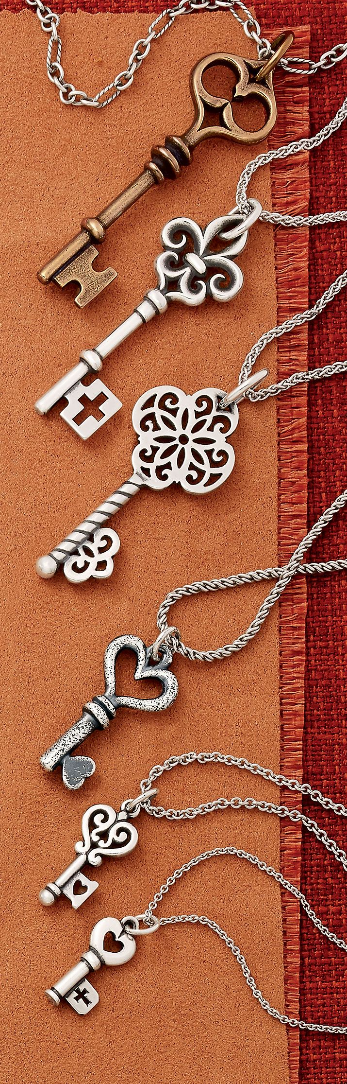 Fall Collection - Key Pendants and Charms #JamesAvery