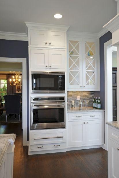Transitional Island Style Blue kitchen, white cabinets, Stefanie Ciak, Other