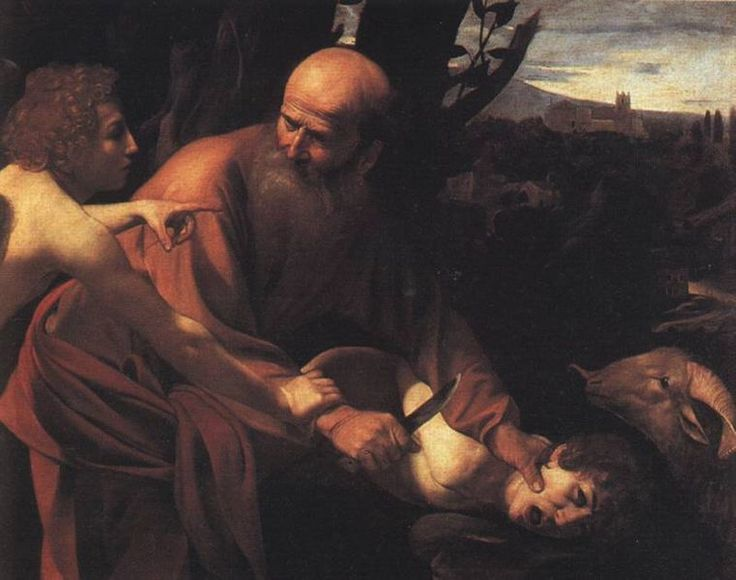 The Sacrifice of Isaac: By Caravaggio, Bible Stories, Oil On Canvas, Faith, Florence Italy, Abraham, Michelangelo Merisi, Tuscany Italy, Paintings