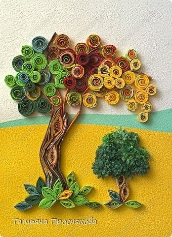 How to Make a Tissue Paper Tree Quilling | Crazzy Craft