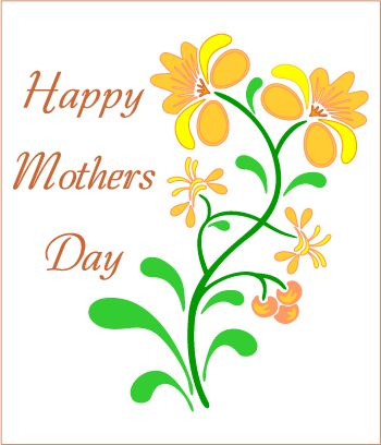 Happy Mother's Day Clip Art | Mother's Day clipart card front picture