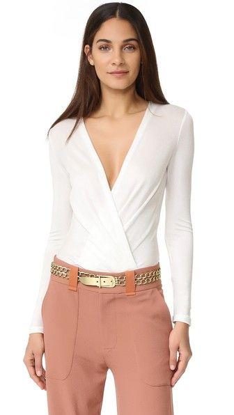 DIANE VON FURSTENBERG Lala Bodysuit. #dianevonfurstenberg #cloth #dress #top #shirt #sweater #skirt #beachwear #activewear
