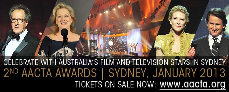 Come party with us as we celebrate the year in film and television with the 2nd AACTA Awards in Sydney. http://aacta.org/events.aspx