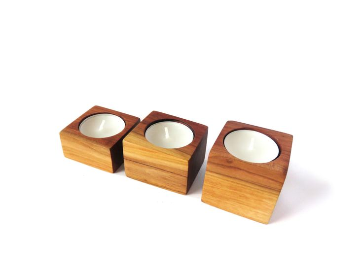 Set of 3 Handmade Wood Candle Holders, Plum Wood Candle Holders, Rustic Candleholders, Tealight Holders, Hand Made Candle Holders by WoodAllGood on Etsy https://www.etsy.com/listing/264264676/set-of-3-handmade-wood-candle-holders