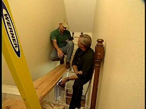 How to Make a Scaffold to Paint a Stairway - YouTube