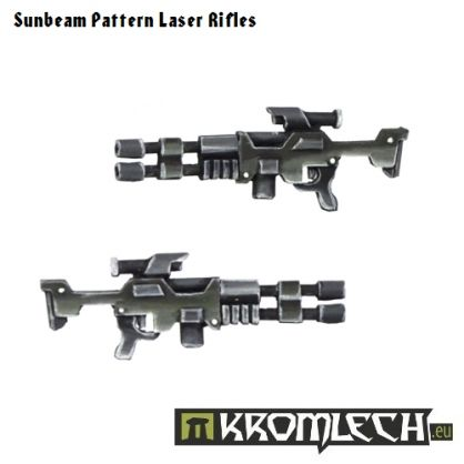 This set contains ten two-barreled Sunbeam Laser Rifles. They are best suited for elite human troopers in 28mm scale.